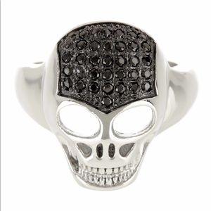 CZ crystal skull ring